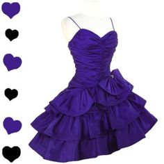 PinupDresses.com #Vintage #Dress Vintage 80s PURPLE Glam TIERED Prom Party Dress S Full Skirt Ruched RUFFLES Zum