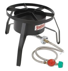 Outdoor Propane Cooker Portable Gas Burner Camping Tailgating Homebrew Supplies