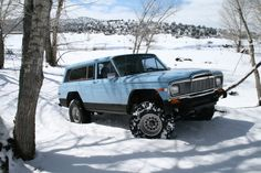 1978 Jeep Cherokee Chief with 33's in the snow.