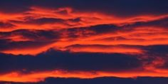 Red clouds at sunset
