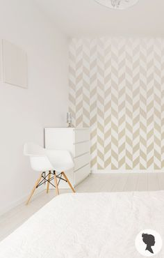 Ombre Herringbone Pattern Self Adhesive Removable by Livettes