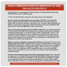 How Christians Should Respond to the Transgender Issue