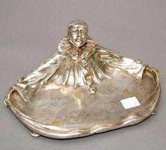 Antique Silver Inkwell ...