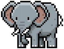 Billedresultat for elephant pixel