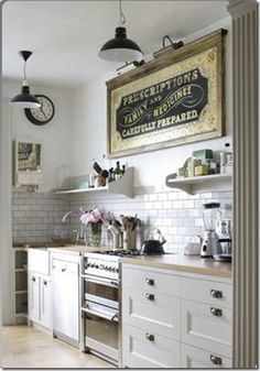 Love subway tile. Such a timeless look. For when we can actually afford to do a backsplash