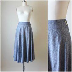 Handmade chambray linen bias skirt by projecterin on Etsy https://www.etsy.com/listing/252653778/handmade-chambray-linen-bias-skirt