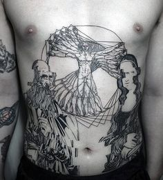 50 Vitruvian Man Tattoo Designs For Men