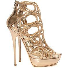 Brazil rose gold platform sandals