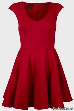 Cool casual red dress 2017-2018