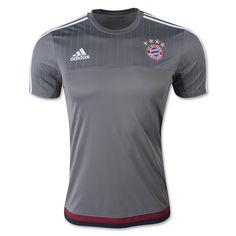 Bayern Jersey 2015/16 Home Grey Traing Soccer Shirt for $16 on Soccer777.net