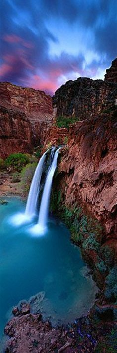 ✈ Havasu Falls in the Grand Canyon of Arizona • photo: Ken Duncan Beautiful Waterfalls, Beautiful Scenery, Beautiful Landscapes, Beautiful World, Beautiful Places, Great Places, Beautiful Gorgeous, Amazing Places, Places To Travel