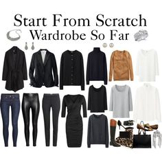 Start From Scratch Wardrobe Steps 1 - 10 by charlotte-mcfarlane on Polyvore featuring moda, Uniqlo, H&M, Office, Chinese Laundry, Zara, MANGO, Fantasy Jewelry Box and Accessorize