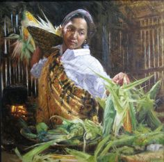Kai Fine Art is an art website, shows painting and illustration works all over the world. Filipino Art, Philippine Art, Fine Arts College, Painting Competition, Native American Indians, Line Art, Art Reference, Cool Art, Art Drawings