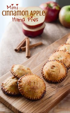 Mini Cinnamon Apple Hand Pies - home baked autumn goodness in the palm of your hand! | Get the recipe on MyCookingSpot.com!