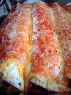Three Cheese Chicken Enchiladas | Plain Chicken