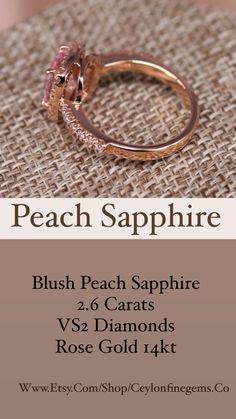 Peach Sapphire Rings, Ceylon Sapphire, White Sapphire, Loose Sapphires, Natural Sapphire, Rose Gold Engagement Ring, Anniversary Rings, Promise Rings, Sri Lanka