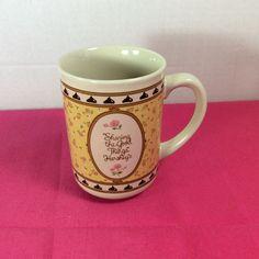 Vintage Hershey Chocolate Kisses Coffee Mug Girl Stirring Chocolate J.H. Schuler #HersheyCorporation
