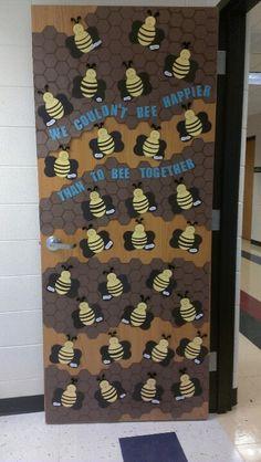 Bee classroom door.