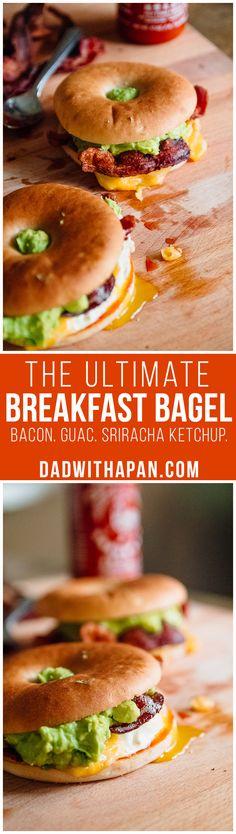 The Ultimate Breakfast Bagel #Bacon #Breakfast #Sandwich