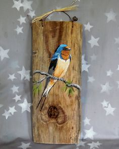 Barn Swallow authentic barnwood rustic hand by SuzysSantasetc