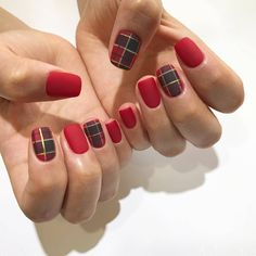 inc nail makeup nail makeup prom dress makeup nail design blue prom dress makeup nail design and nail makeup nail art designs makeup and makeup salon design Ten Nails, Nails Now, Plaid Nails, Swag Nails, Plaid Nail Art, Nail Art Designs, Korean Nail Art, Acrylic Nail Tips, Minimalist Nails