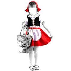 Выкройка детского новогоднего костюма для красной шапочки