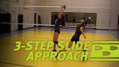 "For the slide to be most effective, middle blockers have to take a forward approach step toward the setter to make it look as if they might hit a ""One."" Middles often use a approach for the Football Team Gifts, College Football Teams, Basketball Gifts, Girls Softball, Volleyball Players, Softball Gifts, Sports Gifts, Alabama Football, American Football"
