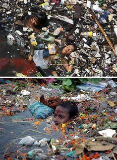 Vuilnis zwemmen voor hen is dit normaal! ~ Trash swimming for them it's normal! Caro