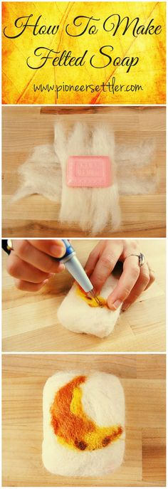 Want to know how to make felted soap? If you're looking for a fun craft or the perfect gift idea for your family and friends, then this is for you! Felted Soap, Wet Felting, Savon Soap, Needle Felting Tutorials, Homemade Soap Recipes, Home Made Soap, Felt Art, Handmade Soaps, Soap Making