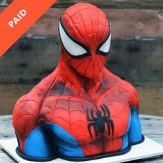 Skill level: Advanced Learn how to sculpt cake and chocolate and create this realistic Spider-Man cake bust! Pig Birthday Cakes, Spiderman Birthday Cake, Novelty Birthday Cakes, Superhero Cake, Novelty Cakes, Spiderman Pasta, Birthday Star, Bolo Sonic, Sonic Cake