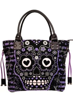 Banned Sugar Skull Shoulder Bag, £21.99    http://www.attitudeclothing.co.uk/product_32462-64-2278_Banned-Sugar-Skull-Shoulder-Bag.htm