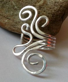 Fine+Silver+Coil+Swirl+Ring+Statement+Ring+by+dAgDesigns+on+Etsy,+£23.00