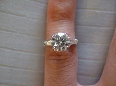 2+ Carat, Solasfera, Tapered Baguette, Platinum.  WOW!!! Not sure which I like better? This or the HW?? I believe this one was modeled after the HW ring.