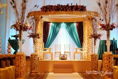 Gorgeous Wedding Mandap in our Estero Ballroom | Hyatt Coconut Point | Photography by Luminaire Foto