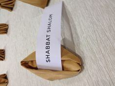 Fortune Cookie Napkin for an Asian inspired Bar Mitzvah weekend, Shabbat dinner!