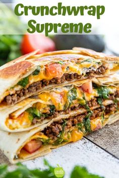 Homemade Crunchwrap Supreme recipe includes a video and is an easy healthy Mexican recipe A simple DIY crunch wrap recipe that is a kid-friendly dinner recipe crunchwrapsupreme mexicanrecipe crunchwrap crunchwrapsupreme createkidsclub Healthy Mexican Recipes, Lunch Recipes, Easy Dinner Recipes, Easy Meals, Healthy Kid Friendly Recipes, Healthy Wrap Recipes, Dinner Ideas, Kid Meals, Health Recipes