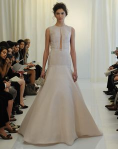 Angel Sanchez plunging keyhole wedding dress from Spring 2016