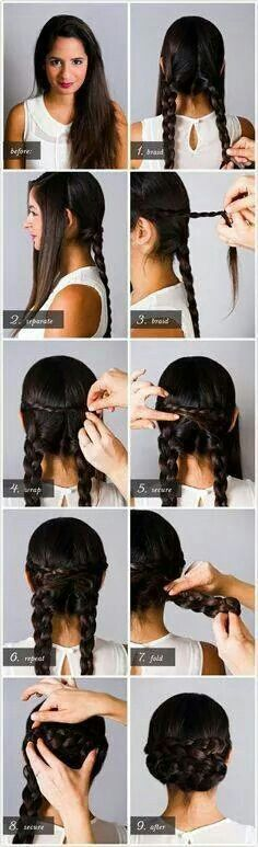Style your hair like a roman matron