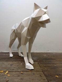 WOLF SCULPTURE by Paul Cummings, via Behance