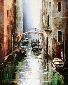 Venice Silence by Gleb Goloubetski, Oil on Canvas, 100cmx80cm