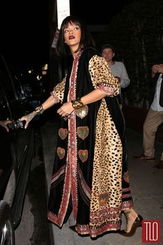 she's a queen. Rihanna in Vintage Moschino Couture in Santa Monica | Tom & Lorenzo