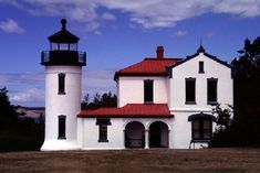 Admiralty Head Lighthouse is in Ft. Casey State Park near Coupeville, Whidbey Island, Washington.             Built in 1861 and rebuilt in 1903
