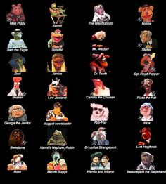 Muppet Show characters. I like this because I never can remember all their names! The Muppets Characters, Jim Henson, Muppet Babies, Fraggle Rock, The Muppet Show, Nyan Cat, Kermit The Frog, Show Photos, Frases