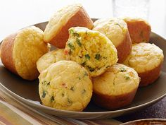Spicy Cornbread Muffins Recipe : Patrick and Gina Neely : Food Network - FoodNetwork.com