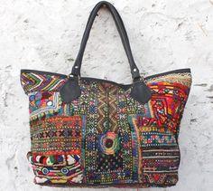 dbc79d690f vintage banjara shoulder bag hand embroiedry leather purse Indian hobo  handbag mirror work.