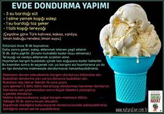 Best Easy Cake : Making ice cream at home # ice cream # sut # salep # sekerag # butter # cocoa # vanilla # lemon juice . Ice Cream At Home, Make Ice Cream, Tasty, Yummy Food, Healthy Food, Ice Cream Recipes, Cocoa Butter, Freezer Meals, Vanilla