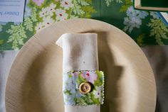 Button Wedding napkin