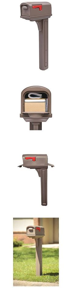 Mailboxes and Slots 20599: Gibraltar Classic Plastic Mailbox And Post Combo With Double Door - Mocha -> BUY IT NOW ONLY: $59.99 on eBay!