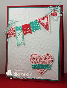Banner Valentine by kyann22 - Cards and Paper Crafts at Splitcoaststampers