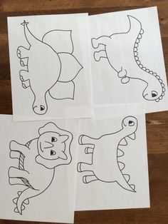 how to draw cute dinosaurs, cute dinosaurs step 2   Dino ...